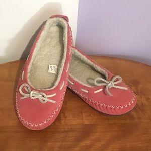 LL Bean Hearthside Slippers Women's 6 Pink
